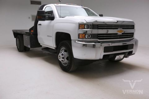 Pre-Owned 2015 Chevrolet Silverado 3500HD DRW Work Truck Regular Cab 4x4 Flatbed